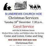 Hoe Church Carol Service 2012