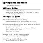 Mar 18 Events & Gen Information