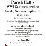 Hoe WW1 Commemoration