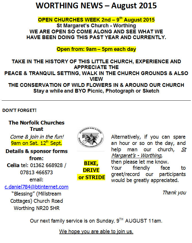 Worthing Church News Aug15