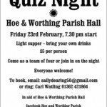 Quiz Night. Feb 23rd 2018