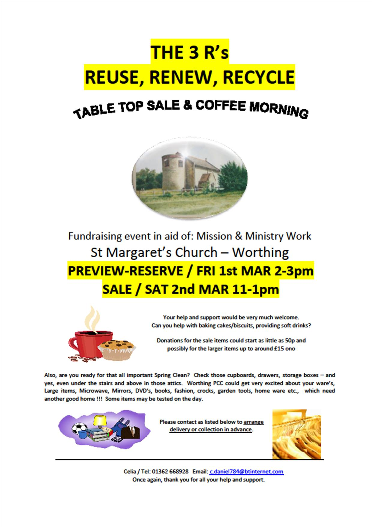 Worthing Church Coffee Morning March 2019