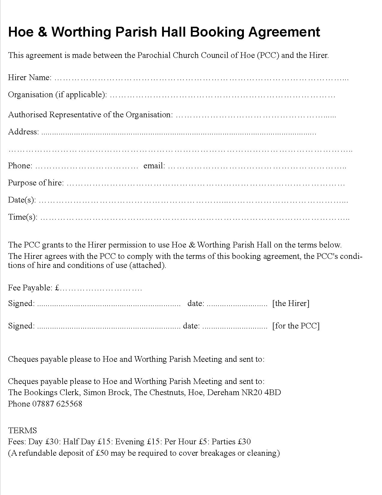 Booking Form sb