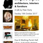 Talk on Regency & Empire styles on 10 Oct 2017