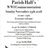 Hoe WW1 Commemoration